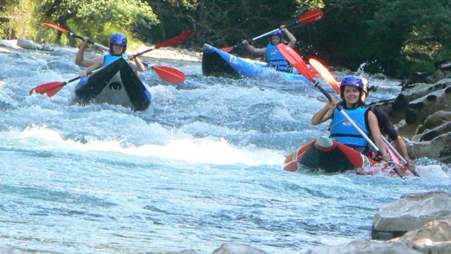 Canoë-kayak sur le gave d'Aspe avec Gaia Aventure