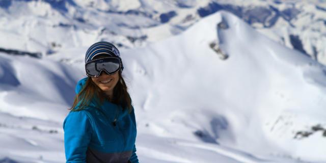 Skieuse à La Pierre-Saint-Martin