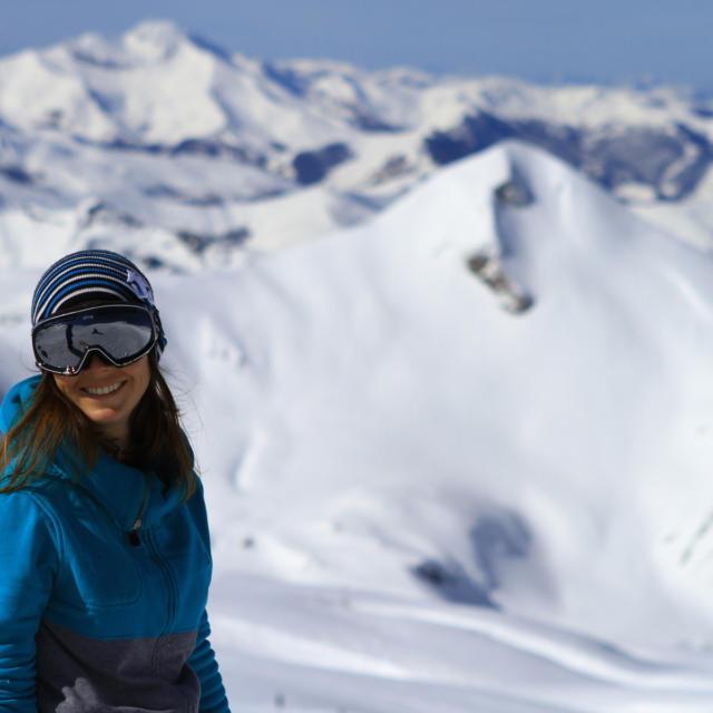Esquiadora en La Pierre-Saint-Martin
