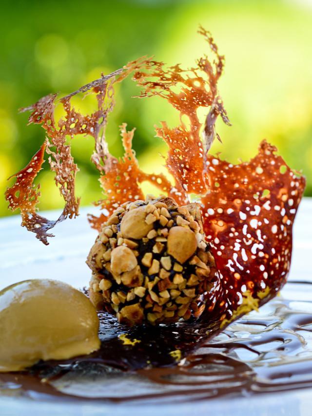 Assiette dessert du Restaurant Chez Germaine à Geus D'oloron