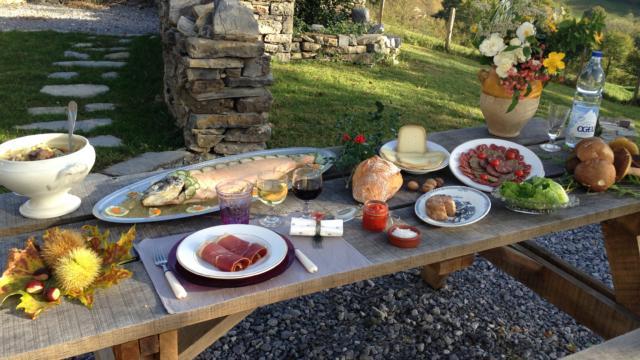 Table de spécialités locales du Béarn