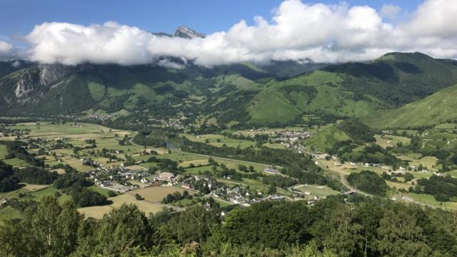 Panorama des villages de la vallée d'Aspe