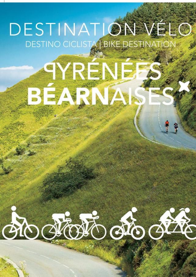 Couverture de la carte vélo en Pyrénées béarnaises