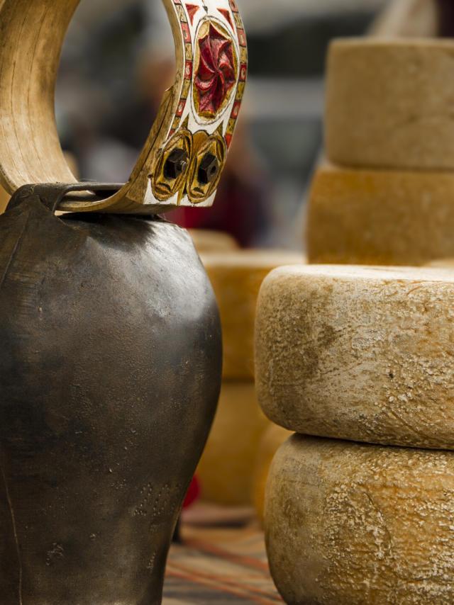 Stand de fromages lors de la fêtes des bergers 2018