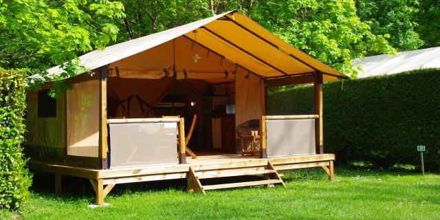 Gran tienda de campaña del Camping Pyrénées Passion